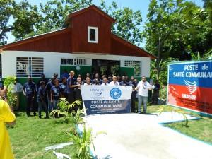 Inauguración del primer Puesto de Salud comunitario en comuna de Leogane en Haití