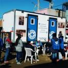 Promoviendo redes barriales de infancia saludable en plena etapa de bajas temperaturas